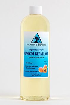 Apricot Kernel Oil Organic Carrier Cold Pressed 100 Pure 16 oz * More info could be found at the image url.