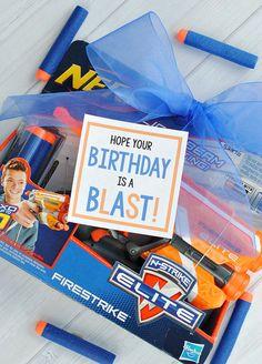 Nerf Gun Birthday Gift Idea-so easy and FUN!