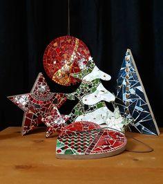 Christmas Mosaics, Christmas Crafts, Christmas Decorations, Christmas Ornaments, Christmas Trees, Holiday Decor, Mosaic Crafts, Mosaic Projects, Mosaic Art