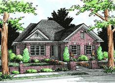 #655781 - Traditional 1 story 3 bedroom 2 bath plan : House Plans, Floor Plans, Home Plans, Plan It at HousePlanIt.com