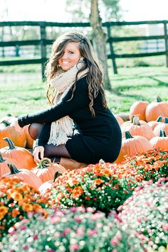 Fall photos in a pumpkin patch! Fall Senior Pictures, Fall Pictures, Fall Photos, Senior Photos, Fall Pics, Graduation Pictures, Senior Session, Couple Pictures, Fall Portraits