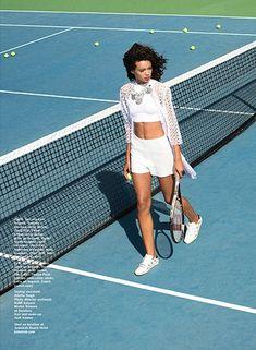 "Match"" Brianna by Kiki Lee for Stylist Arabia March 2015 Tennis Fashion, Sport Fashion, Fashion Photo, Fitness Fashion, Tennis Skirts, Tennis Clothes, Street Photography People, Tennis Photography, Tennis Photos"