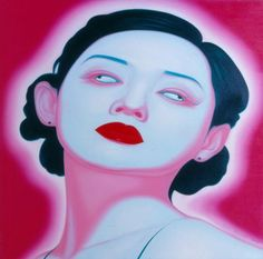 (Series: Chinese Portrait), 2005 painting, 1500x1500mm ARTIST: Feng Zhengjie
