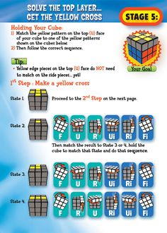 "Rubik's 3x3 Solving Guide Stage 5 Page 6--""Fish"" solution"