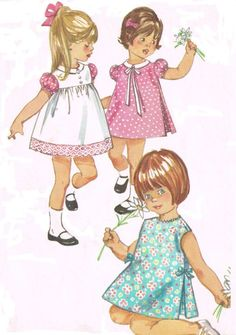 Simplicity 6422 Vintage 1960s Sewing Pattern Toddler Size 1 12 Months One Piece Dress Pinafore Inverted Pleats Round Sleeveless di HappyIFoundIt su Etsy https://www.etsy.com/it/listing/200459738/simplicity-6422-vintage-1960s-sewing
