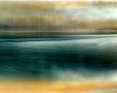 art photography, abstract landscape photography, contemporary photography, fine art photography, blue, water, river, texture, painterly, contemporary, yellow, calming  by Frances Seward