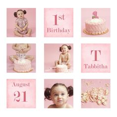 Cake Smash! (row 1: Before, row 2: During, row 3: After)