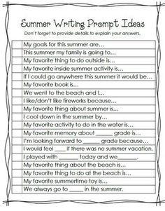 great writing journal for my kids over summer break!
