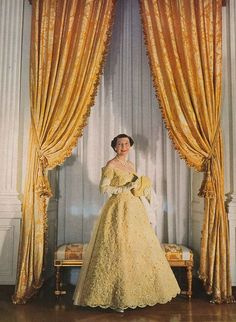 Mamie Eisenhower inaugural gown |her second inaugural gown