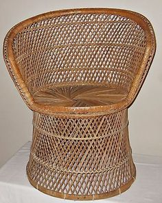 #Wicker #peacock fan back buri chair vtg #rattan/bamboo 70s high back round natur, View more on the LINK: http://www.zeppy.io/product/gb/2/331740824927/
