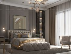 Master Bedroom on Behance Modern Luxury Bedroom, Luxury Bedroom Design, Master Bedroom Design, Luxurious Bedrooms, Bedroom False Ceiling Design, Master Bedroom Interior, Modern Master Bedroom, Living Room Decor Set, Hotel Room Design