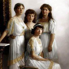 Beautiful sisters  #OTMA  #ROMANOV #1613-1917 by romanovi1613