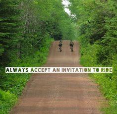 Always accept an invitation to ride. #cycling #biking #womenscycling http://equipacionesciclismo.com/