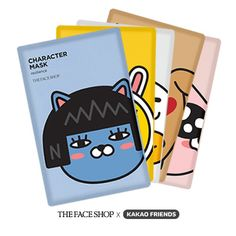 THE FACE SHOP Character Mask Kakao Friends Set - Strawberrycoco