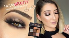 HUDA BEAUTY SMOKEY OBSESSIONS PALETTE TUTORIAL, SWATCHES & REVIEW