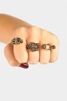 Skeletor Three Finger Ring - Probably wouldn't wear this daily, but it's clever!