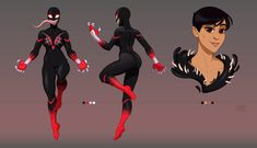Want to discover art related to symbiote? Check out inspiring examples of symbiote artwork on DeviantArt, and get inspired by our community of talented artists. Female Character Concept, Character Art, Character Design, Spider Art, Spiderman Spider, Marvel Venom, Marvel Dc Comics, Black Anime Characters, Marvel Characters