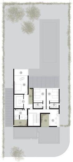 Una casa, Plano del primer piso