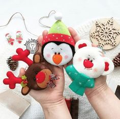 """Фетрули""- рукоделие, handmade, ручная работа Cute Christmas Tree, Felt Christmas Ornaments, Christmas Candles, All Things Christmas, Christmas Themes, Christmas Crafts, Christmas Decorations, Felt Doll Patterns, Felt Gifts"