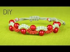 M Easy Wave or Snake Bracelet with Beads - Tutorial - YouTube