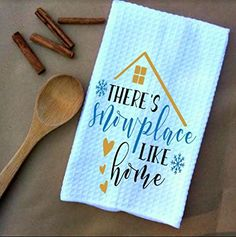 Snowplace like Home Waffle Weave Kitchen Towels Drying Cloth 16inch X 24inch White