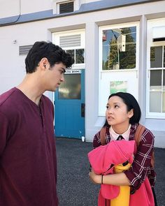 """""""Noah Centineo with Lana Condor in 'To All The Boys I've loved Before'. This year is saved. Lara Jean, Movie Couples, Cute Couples, Disney Star Wars, Love Movie, Movie Tv, Jean Peters, Jenny Han, I Still Love You"""