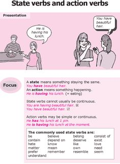 Grade 8 Grammar Lesson 3 State verbs and action verbs