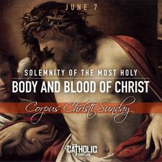 "Today we celebrate The Solemnity of the Most Holy Body and Blood of Christ (Corpus Christi)   While they were eating, he took bread, said the blessing, broke it, gave it to them, and said, ""Take it; this is my body."" Then he took a cup, gave thanks, and gave it to them, and they all drank from it. He said to them, ""This is my blood of the covenant, which will be shed for many.""  #corpuschristi   #corpuschristisunday‬   #feastday #mycatholictshirt   http://mycatholictshirt.com/readings"