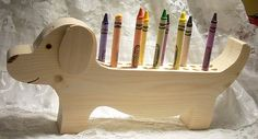 Dachshund+Crayon+Holder+Wood+Unpainted+for+by+SouthernMadeSigns,+$10.00