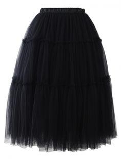 POSHme - Chicwish TUTU sukně Amore, černá