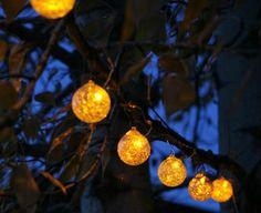 String lights for garden