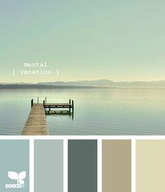 Mental vacation color palette by design seeds