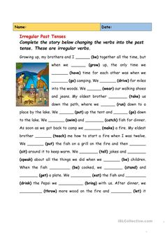 30 Irregular Verbs Worksheet Pdf 2 Irregular Past Tenses 2 English ESL Worksheets for distance learning and physical classrooms The youngsters can enjoy Number Worksheets, Math Worksheets, Alphabet Worksheets. English Grammar Tenses, Teaching English Grammar, English Grammar Worksheets, Verb Worksheets, English Writing Skills, English Verbs, Reading Comprehension Worksheets, Grammar And Vocabulary, Grammar Lessons
