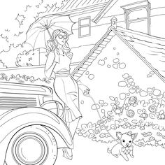 People Coloring Pages, Coloring Book Pages, Penny Black Stamps, World Of Color, Fashion Books, Colorful Fashion, Line Art, Girl Travel, Mandala Coloring
