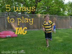 Tag is the ultimate outside, child game!