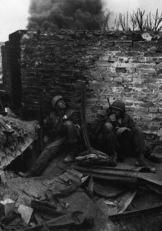U.S. Marines at Hue, South Vietnam, Feb 1968. by Don McCullin
