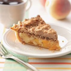 Sour Cream Peach Pecan Pie Recipe from Taste of Home -- shared by Sherrell Dikes of Holiday Island, Arkansas