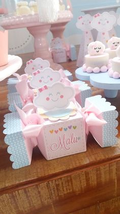 Diy Party Themes, Birthday Party Decorations, Baby Shower Princess, Baby Boy Shower, Baby Shower Centerpieces, Baby Shower Decorations, Cloud Party, Rainbow Theme, Party In A Box