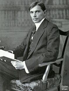 Very young & Handsome founder of Pakistan Quaid e Azam Muhammad Ali Jinnah Karachi city Sindh Pakistan