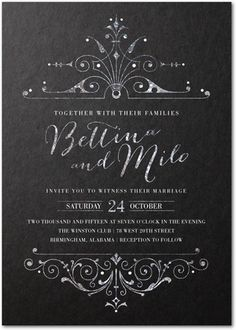 Signature Custom Wedding Invitations Lavishly Illuminated - Front : Dijon