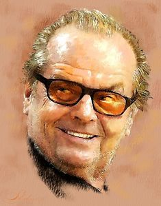 Portrait of Jack Nicholson by shahin on Stars Portraits - 2 Celebrity Caricatures, Celebrity Drawings, Celebrity Portraits, Pastel Portraits, Watercolor Portraits, Oil Portrait, Pencil Portrait, Film Icon, Pop Culture Art