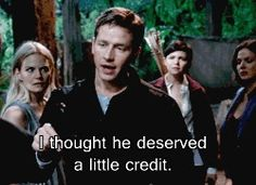 Yeah. After Charming was a grade A jerk to him the whole episode.