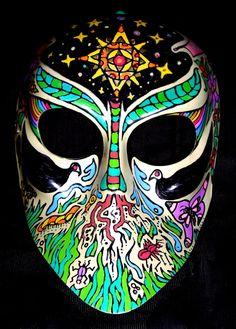 "Artist Vinny Michaud Painting of ""Spring's Mask"". Religious, Creature, Alien, Occult, Portraits & space Art by Vincent Michaud.  http://www.vincentmichaud.vision/painting/"