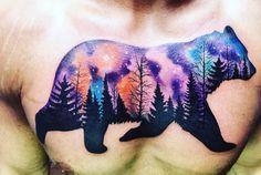 Northern Lights Bear Tattoo   Venice Tattoo Art Designs