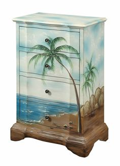 images+of+beachy+chest+of+drawers | Beautiful hand painted sea view four drawer chest. Whether you're ...