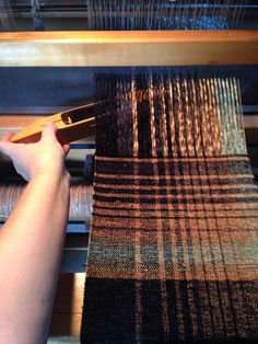 On the loom. Maisonette Textile Design