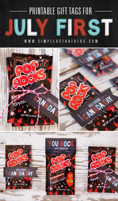 FREE Printable Pop Rocks Gift Tags for Canada Day!
