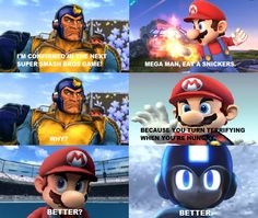Snickers Meme #1: Super Smash Bros by thekirbykrisis.deviantart.com on @deviantART