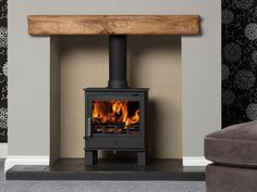 ACR Malvern - Ex-display (One Only) - The Stove House Midhurst Nr Chichester West Sussex Log Burner Living Room, Living Room With Fireplace, Home Living Room, Living Room Designs, Living Room Decor, Electric Wood Burning Stove, Electric Log Burner, Electric Stove Fireplace, Electric Fires