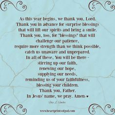 Heartprints of God: A Prayer for the New Year~<3